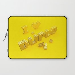 I Love Duplo Laptop Sleeve