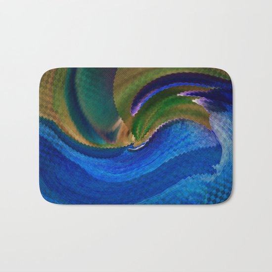 Wild Alaskan Sea Abstract Bath Mat