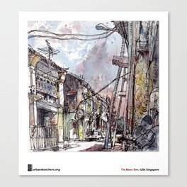 "Tia Boon Sim, ""The Love Lane, Penang, Malaysia""  Canvas Print"
