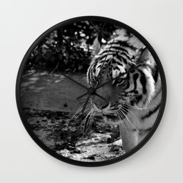 The Prowling Tiger Wall Clock