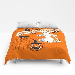 Rustic Vintage Spooky Happy Halloween Comforters