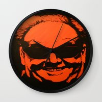 jack nicholson Wall Clocks featuring Jack by Ty McKie Creations