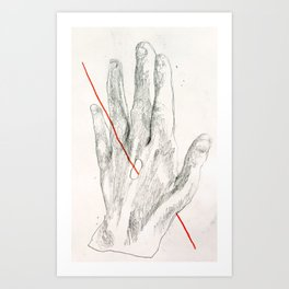 Red Line II Art Print