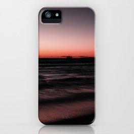 Sunset Shades of Magenta Beach Ocean Seascape Landscape Coastal Wall Art Print iPhone Case