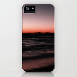 Sunset Shades of Magenta Beach Ocean Seascape Landscape Coastal Wall Art Print iPhone Case