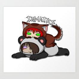 Inmates: Puppy and Panda Art Print
