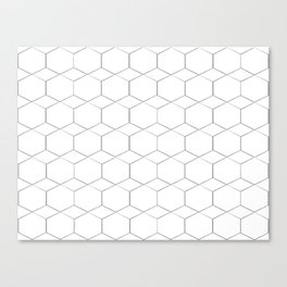 Honeycomb pattern in black and white Canvas Print
