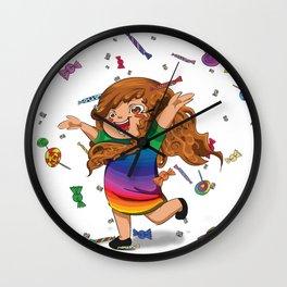 Pioggia caramelle Wall Clock