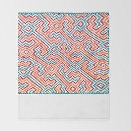 Song to Bring Vision & Insight - Traditional Shipibo Art - Indigenous Ayahuasca Patterns Throw Blanket