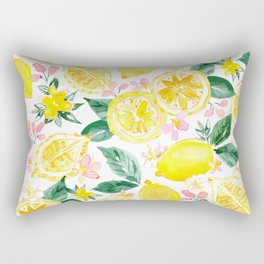 LEMONIZER Yellow Lemons Rectangular Pillow