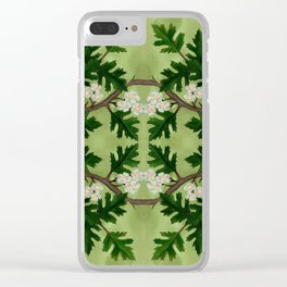 Olwen Hawthorn Panel Clear iPhone Case