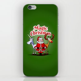 Magic Christmas with a unicorn iPhone Skin