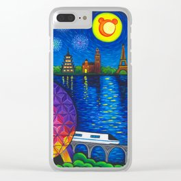 Starry Night Over Epcot Clear iPhone Case