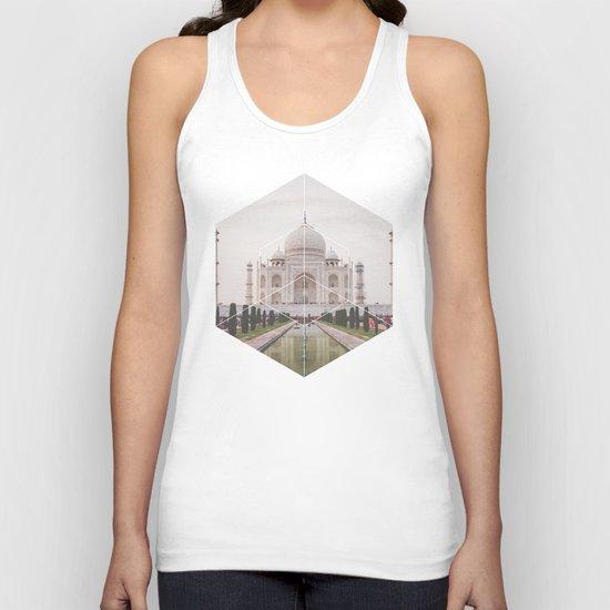 Taj Mahal - Geometric Photography Unisex Tank Top
