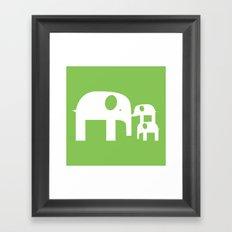 Green Elephants Framed Art Print