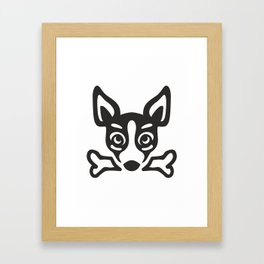 dog head Framed Art Print