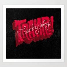 Thanksgiving and Black Friday Art Print