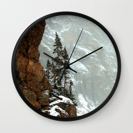 Photos USA Colorado Rocky Mountain National Park Crag Nature Mountains park Rock Cliff mountain Parks Wall Clock