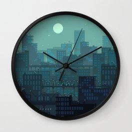 Midnight Blues Wall Clock