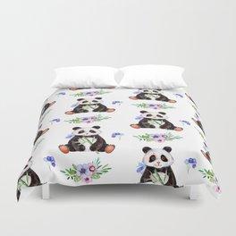 Garden Panda Duvet Cover