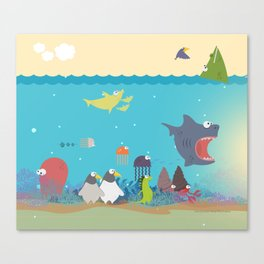 What's going on at the sea? Kids collection Canvas Print