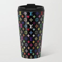 COLORFULL LV PATTERN LOGO Travel Mug