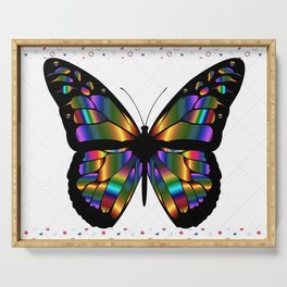 Iridiscent Butterfly Serving Tray