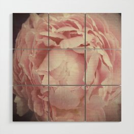 Peony Flower Wood Wall Art