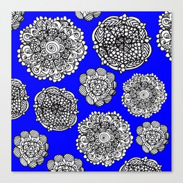 blue mandala maze  Canvas Print