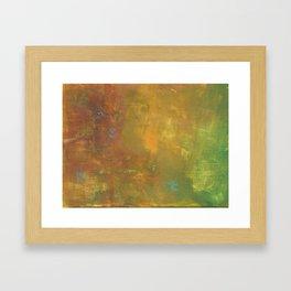 Green Gold Brown Abstract Framed Art Print