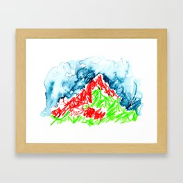 up to the hill Framed Art Print