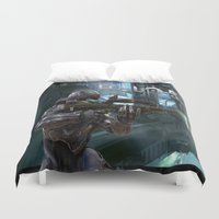 guardians Duvet Covers featuring Halo5 Guardians by giftstore2u