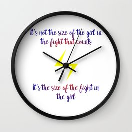 fight in the girl Wall Clock