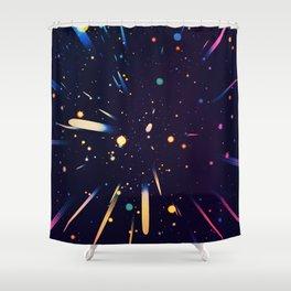 Glow Galaxy Shower Curtain