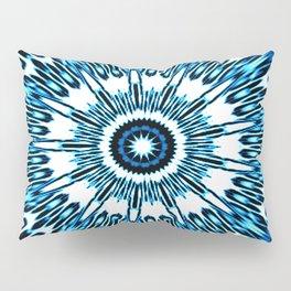 Blue White Black Explosion Pillow Sham
