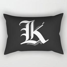 Letter K Rectangular Pillow