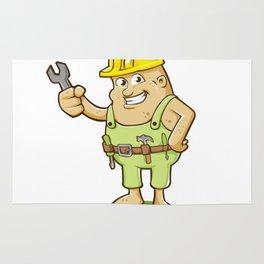 potato worker cartoon Rug