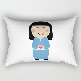 kokeshi doll Rectangular Pillow