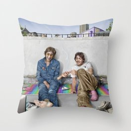 John and Paul get away from it all Throw Pillow