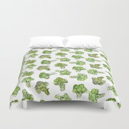 Broccoli - Scattered Duvet Cover