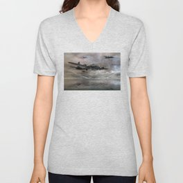 B-17 Flying Fortress - Almost Home Unisex V-Neck