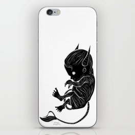Little Devil (black version) iPhone Skin