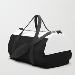 Color Block-Black and White Duffle Bag