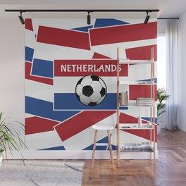 Netherlands Flag Football Wall Mural
