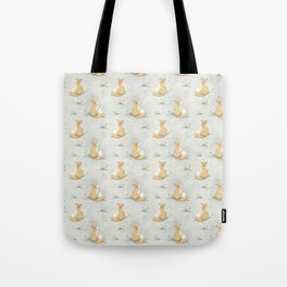 Dandelion Fox Fabric Print Tote Bag