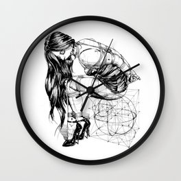 Lady on Cube Wall Clock