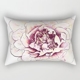Peonies Flower Floral Wall Art Print Rectangular Pillow