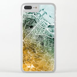 Cape Town South Africa City Street Map Clear iPhone Case