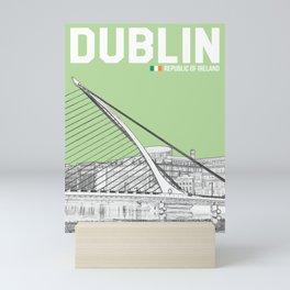 Dublin Travel Poster (21x28), Samuel Beckett Bridge Mini Art Print
