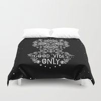 good vibes only Duvet Covers featuring Good Vibes Only by Anita Molnár Anita